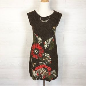 NWT Aryeh Fall Floral Leaves Dress with Pockets